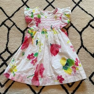 Baby Gap Ruffle Sleeve Watercolor Floral Dress